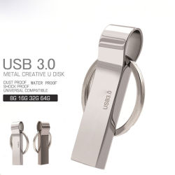 Wasserdichtes USB 3,0 Flash Drive 8g 16g Pen Drive 32g 64G Speicher USB-Stick Pendrive Key Ring USB-Flash Laufwerk