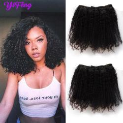 Afro apretado rizado el rizo 100% Humano Clip-en el cabello