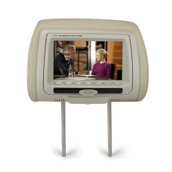 """Venda a quente 7"""" LCD TFT de DVD-de-cabeça Leitor multimédia de entretenimento automóvel"""