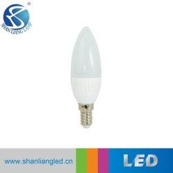 C37 3W 플라스틱 커버 알루미늄 E14/E27 LED 캔들 전구 LED 집중 조명