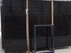 Nero Marquina/Китай слоя из черного мрамора для установки на стену/пол/плитки/литья под давлением/Water-Jet/медальон/мозаики