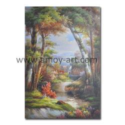 Pittura a olio riprodotta di paesaggio della foresta per la decorazione domestica