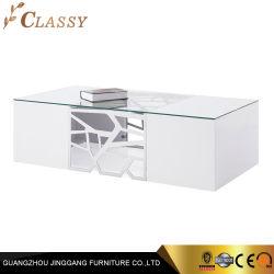Fashion mesa de café com revestimento superior em vidro