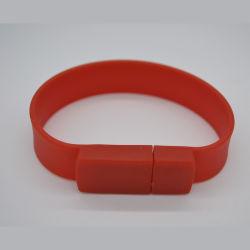 Borracha de silicone coloridas pulseiras banda Banheira de vender a unidade flash USB com o logotipo personalizado