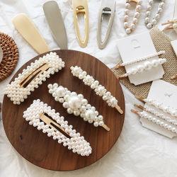 方法毛の宝石類のアクセサリの女性のための水晶花の真珠Hairclip