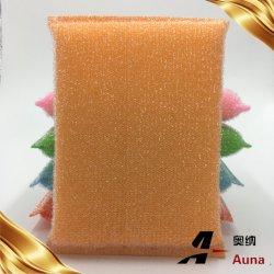 다채로운 자카드 직물 갯솜 수세미 닦는 패드