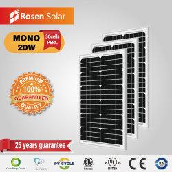 20W Китай производитель моно 12V солнечные фотоэлектрические панели для освещения