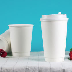 커피 최신 음료 물을%s 처분할 수 있는 두 배 벽 종이컵