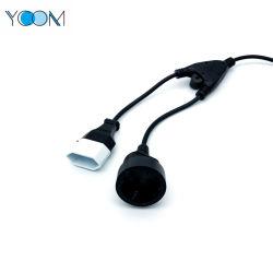 Ycom extensión europea para la longitud de cable de alimentación personalizado