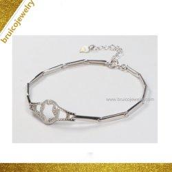 O ródio Ouro jóias de prata esterlina Assista Bracelete charme de Design para Senhoras