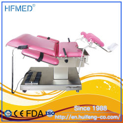 Ajustable de acero inoxidable de los dispositivos médicos Electric operación quirúrgica de tabla (HFEPB99B)