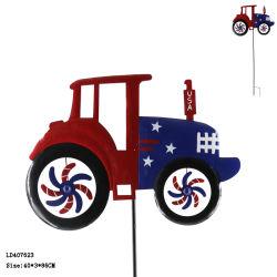 تصميم جديد على الدراجة المعدنية على الطراز الأمريكي، وحصة الحديقة المعدنية للديكور الخارجي