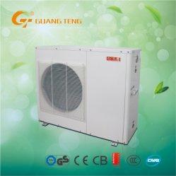 Ahorro de energía Guangteng Fuente de aire aire al agua bomba de calor 6.5kw un calentador de agua refrigerante R410A Gt-Skr6kb-10