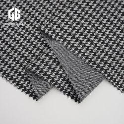 Coton polyester Tissu jacquard Houndstooth en nylon pour vêtements de tricot