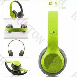 Cuffia senza fili di Bluetooth della cuffia avricolare di gioco stereo più poco costoso all'ingrosso P47 della fabbrica