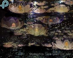 زخرفيّة يرصّع بطانة ينحت [كت فلوور] صورة زيتيّة جدار زجاج ([بغ-تب010])
