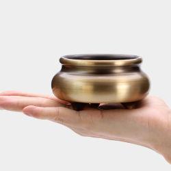 Pan de quemador de incienso Quemador de incienso puro cobre Quemadores de Incienso de sándalo en el interior del hogar de quemador de incienso Quemador de incienso incienso suministros canal