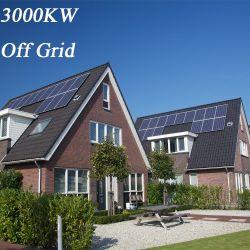 O sistema de energia solar de grade 1KW 2 kw 3KW 4 Kw 5 kw Home Sistema Solar com o controlador do Carregador