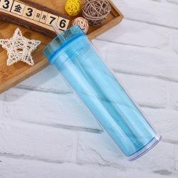 Чашки воды пластиковый тумблерный двойные стенки напиток Skinny тумблерный с
