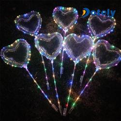 Brilha no escuro com balão 18 Polegadas LED Clara Bobo balão com Stick