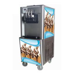 コマーシャル3の味のアイスクリームを作るための柔らかいサーブのアイスクリーム機械