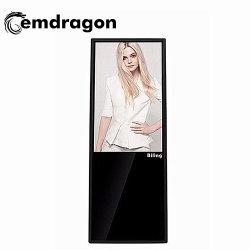 Plancher de la publicité permanent Player Android portable 43 pouces numérique numérique de détail de la publicité d'affichage LCD Stand de plancher
