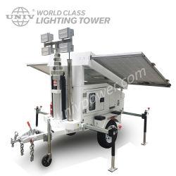 Torretta di illuminazione mobile a energia solare