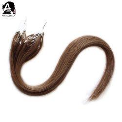 Angelbella の最も最近の設計ヘアスタイル 6# Remy の人間のマイクロリングの毛の延長