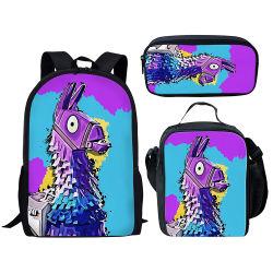 Custom Design Fashion Cartoon sacs d'école d'impression définie avec sac à lunch et un crayon cas