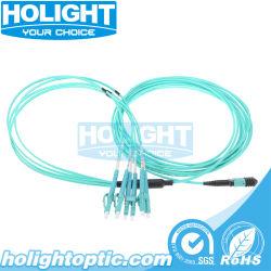 MPO à OM3 LC duplex du faisceau de câble à fibre optique multimode