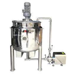 Acero inoxidable de alta calidad 1000L Refrigeración y Calefacción, depósito de mezcla de líquidos químicos de pintura