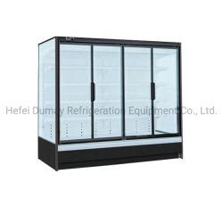 Porte en verre vertical réfrigérateur pour supermarché