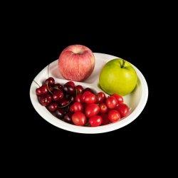 3 حجرة حاوية طعام Bagasse قابلة للتوفير في البيئة طبق بلطفات الفاكهة مع اللوز
