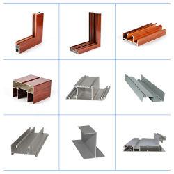 Muebles de compuerta anodizada de alta calidad aluminio Extrusión Perfil para deslizamiento Ventana y puerta Revestimiento en polvo Color Oro ventana de aluminio de madera Perfil