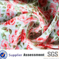 100D 100 % polyester Tissu Georgette robe d'impression