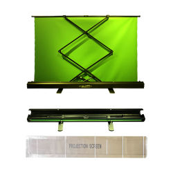 Il contesto pieghevole portatile 150*200cm del comitato di Chromakey tir suare la priorità bassa di schermo verde Grinza-Resistente per il video della foto in tensione