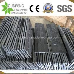 Piedra Natural China dividir la cara de piedra de la cultura de ladrillo de pared de pizarra negra