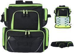釣り道具のバックパックの防水軽量の戦術的な袋のロッド・ホルダーおよび保護雨カバーが付いている柔らかいタックル袋