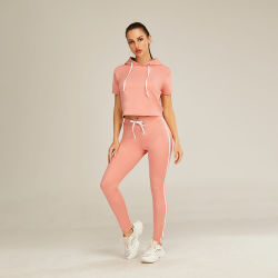 Conjunto de ropa deportiva mujer primavera otoño Conjunto 2 piezas Sweatsuit recortada Chándal conjuntos jogging