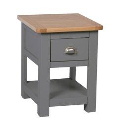 Aspen Dark Grey Oak-lamp tafel
