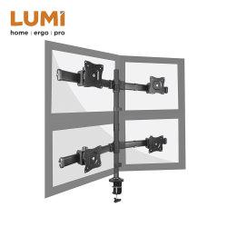 Cuatro de acero ergonómico Pantalla del monitor Vesa LCD soporte de montaje en escritorio