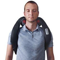 Назад массажер для шеи и плеч, шиатсу массаж плечевого сустава с устройства устройство электрического вибрирующие назад нож для замешивания и шеи