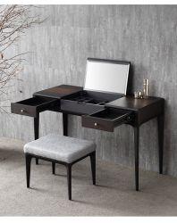 Coin dressing bureau moderne en bois Tableau tiroirs de rangement Commode avec tabouret en miroir miroir à maquillage dans la chambre mobilier