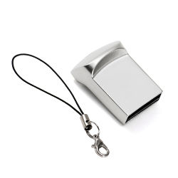 محرك أقراص USB محمول مخصص سعة 4 جيجابايت وسعة 8 جيجابايت وسعة 64 جيجابايت وسعة 128 جيجابايت محرك أقراص USB محمول معدني صغير