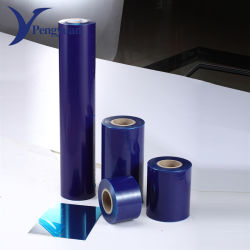 Pellicola protettiva stampata della mobilia di plastica blu del LDPE