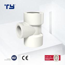 Té de réduction BSP PVC Système industriel de haute qualité de raccord haute pression du tuyau en plastique