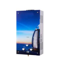 Diseño de vidrio colorido bonito cuarto de baño instantánea 8 Litros calentadores de agua a gas