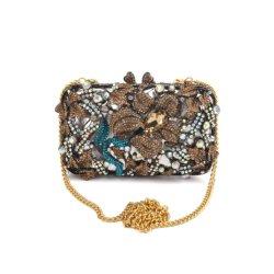 Piedras preciosas de la moda de lujo del embrague de Ópalo con reborde de la Bolsa de noche bordados Bolso Bolsos para mujer señoras chica Miss