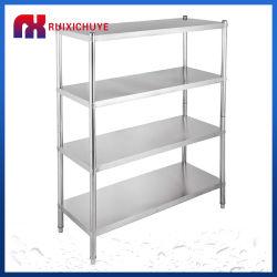 صُنع في الصين رفوف الفولاذ المقاوم للصدأ التخزين أرفف التخزين متوسطة الحجم رفوف المطبخ