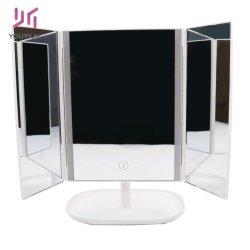 Miroir de maquillage pli en lumières LED 10X2X3X Haute Définition d'agrandissement de la clarté de lumière cosmétiques jusqu'Miroir grossissant